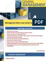 Chapter 4 Managerial ethics & social responsibility