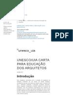 ABEA - UNESCO_UIA Carta Para a Educação Dos Arquitetos