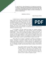Resenha - Anatomia_a ordem do corpo Higor Henrique da Silva Psicologia matutino 1P