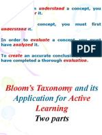 PP Alam Class Blooms Taxonomy Part One