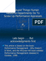Seven Stupid Things Human Resource Departments Do To