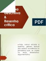 Texto Argumentativo - Resenha Crítica
