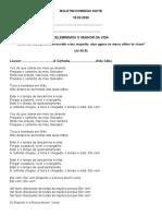 BOLETIM DOMINGO NOITE. 15.03.2020