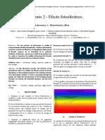Lab 2 Fisica III - Efecto Fotoeléctrico