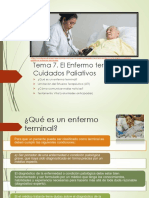 Tema 7.- El Enfermo terminal Y los Cuidados Paliativos
