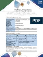 Guía de actividades y rúbrica de evaluación - Tarea 1 - Fundamentos de campo electrostático