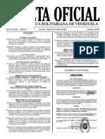 Gaceta Oficial N° 42.049 que contiene el Decreto N° 4.420