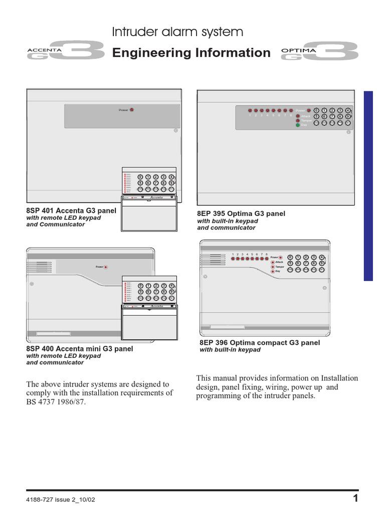 accenta optima g3 alarm system v2 relay fuse electrical rh scribd com accenta 8 user manual pdf accenta 8 user manual