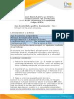 Guia de actividades y Rúbrica de evaluacion  Paso 1-Entrega informe accion comunitaria