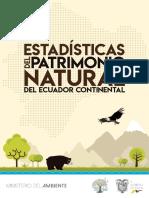 Estadísticas patrimonio natural 2018