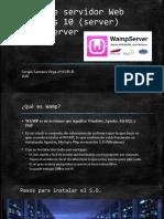 Montaje de Servidor Web en Windows 10