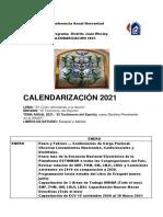 Calendario distrital J. Wesley 2021