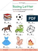 The missing letters for kids