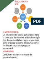 Innovación 4°- Tema caracteristicas de un emprendedor