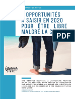 7 Opportunités à Saisir en 2020 Pour Être Libre Malgré La Crise (Support de Formation à Compléter)