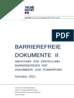 Anleitung zur Erstellung barrierefreier PDF Dokumente aus PowerPoint