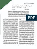 El entrenamiento de Graduados en psicología Clinica