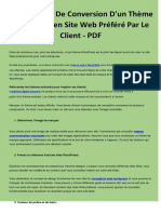Le Processus de Conversion D'Un Thème Wordpress en Site Web Préféré Par Le Client - PDF