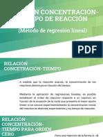MÉTODO DE REGRESIONES CONCENTRACIÓN TIEMPO