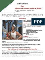 Foro implicaciones de la reforma laboral en México
