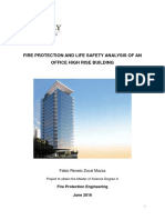 Fire and life safety report for a high rise office building