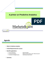 Predictive Analytics - A Primer