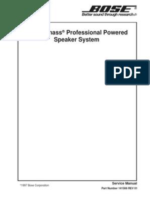 Bose Acoustim Professional Service Manual | Amplifier ... on