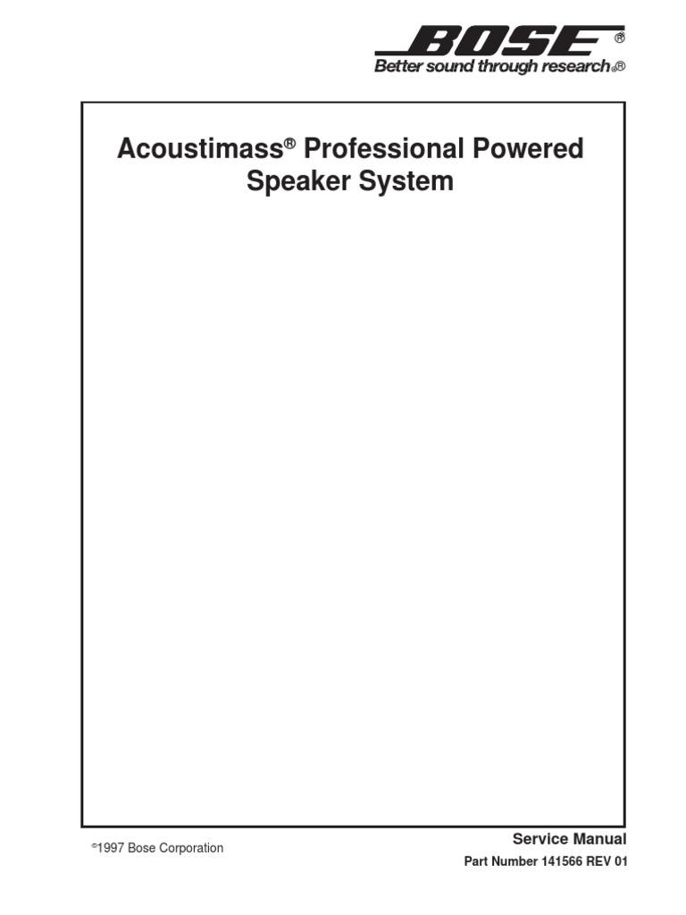 Bose Acoustimass Professional Service Manual | Amplifier ...