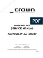 Crown 1400 Csl Service Manual
