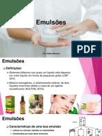 Aula de Farmacotécnica Especial-Emulsões