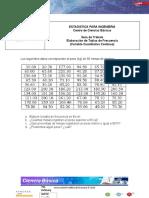 GUIA DE TRABAJO - Tabla de Frecuencia - Variable Cuantitativa Continua