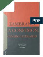 ZAMBRANO La Confesión. Género Literario