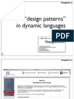_Design Patterns_ in Dynamic Languages Presentation