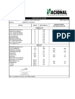 3. Certificado de Cemento Portland Tipo I - Marzo 2019