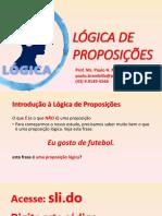 Aula 02 - Proposições e Conectivos Lógicos