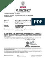 6230845-spellman-Certificat-XRV225