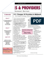 Payers & Providers Midwest Edition – Issue of February 22, 2011