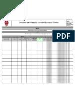 Cronograma Mantenimiento de equipos e instalaciones de la empresa