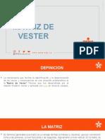 MATRIZ DE VESTER