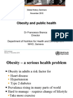 Obesity and Public Health - WHO