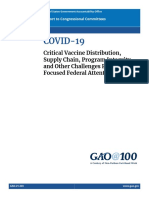 GAO Report Vaccine Distribution 712030