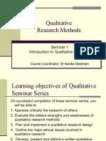 Seminar 3.1 -Qualitative Intro & Skills