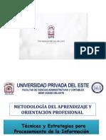 Técnicas y Procesamiento de La Información - Metodología del Aprendizaje y Orientación Profesional