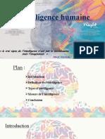 L'intelligence humaine A