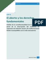 Capitulo IV  - El aborto y los derechos fundamentales