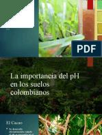 Uso del pH en la agronomia colombiana.