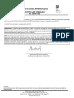 Certificado de antecedentes de Victoria Sandino Simanca Herrera