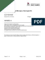 Teste Sumativo Biologia e Geologia 10º 01 V4-2019