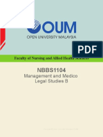 NBBS1104 Management and Medico Legal Studies B