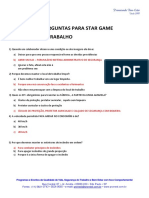 SUGESTAO DE PERGUNTAS PARA STAR GAME